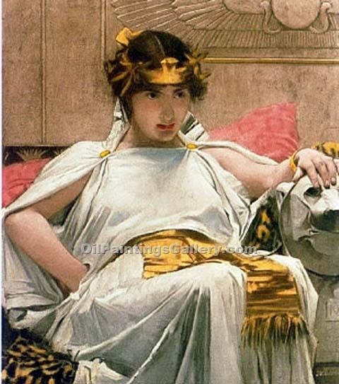 """Cleopatra 21"" by  John William Waterhouse"