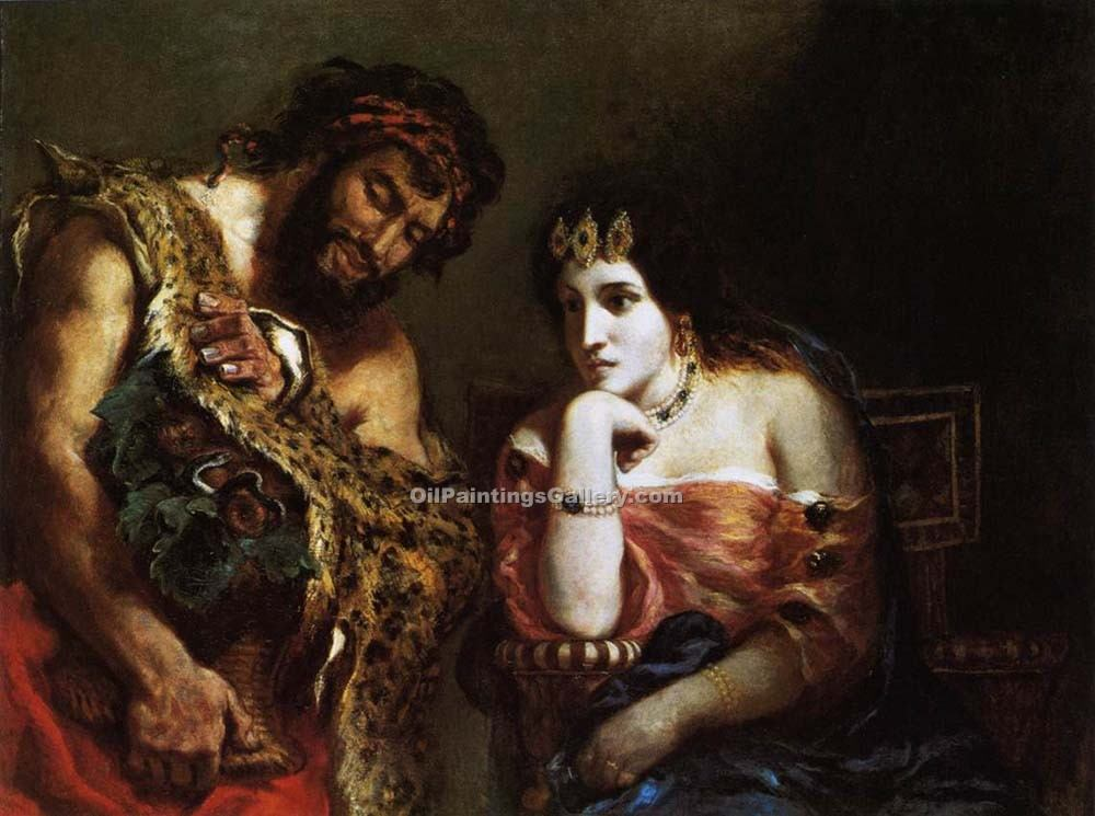 """Cleopatra and the Peasant"" by  Eugene Delacroix"