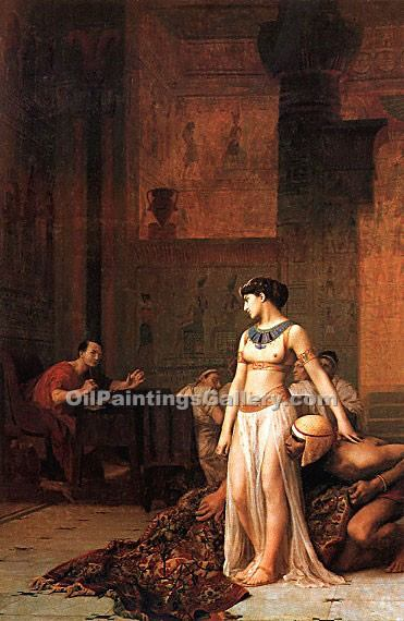 """Cleopatra before Caesar"" by  Jean Leon Gerome"