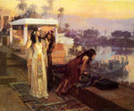 Cleopatra on the Terraces of Philae by  Frederick Arthur Bridgman (Painting ID: ER-0050-KA)