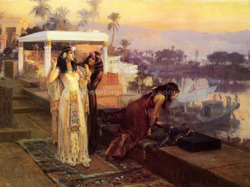 """Cleopatra on the Terraces of Philae"" by  Frederick Arthur Bridgman"