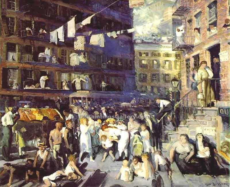"""Clif Dwellers"" by  George Bellows"