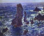 Cliffs at Belle-Ile by  Claude Monet (Painting ID: MO-0920-KA)