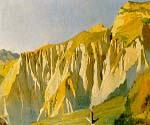 Cliffs of Volterra by  Elihu Vedder (Painting ID: CL-0856-KA)