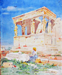 Close View of the Acropolis by  Henry Bacon (Painting ID: LA-0528-KA)