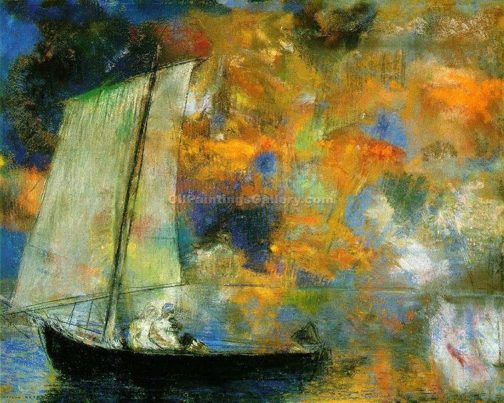 """Clouds"" by  Odilon Redon"