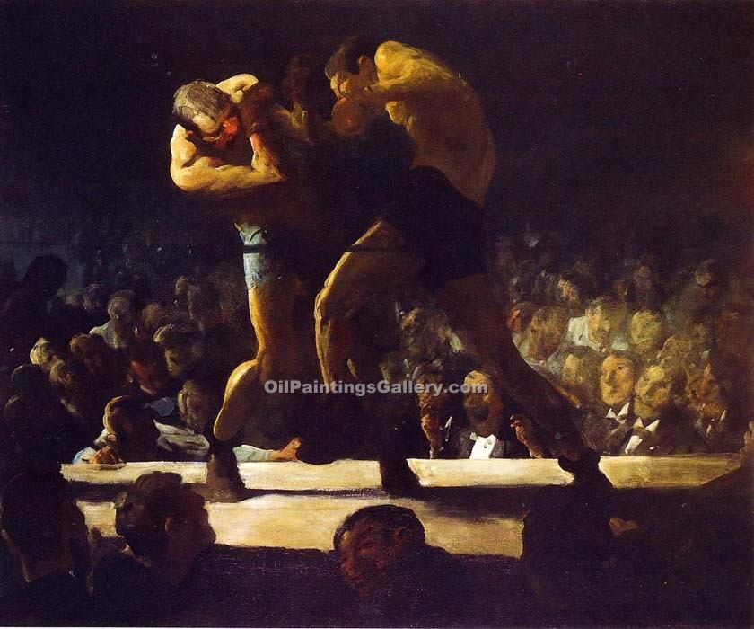 Club Night by George Bellows | Impressionism Paintings - Oil Paintings Gallery
