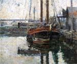 Coal Schooner Unloading by  Theodore Robinson (Painting ID: CL-4324-KA)