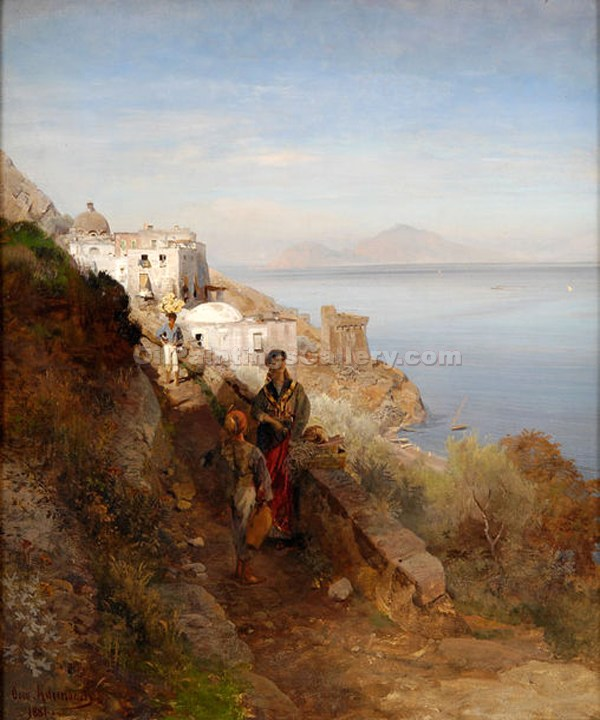 """Coast of Sorrento"" by  Oswald Achenbach"