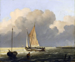 Coastal Scene with a Barge by  Ludolf Backhuysen (Painting ID: LA-0473-KA)