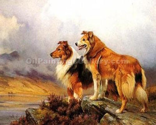 """Collies"" by  Wright Barker"