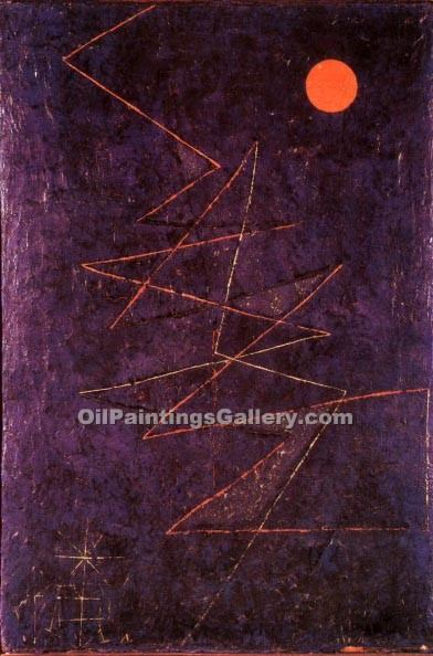 """Coloured Lightning"" by  Paul Klee"