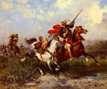 Combats de Cavaliers Arabes by  Georges Washington (Painting ID: ED-0404-KA)