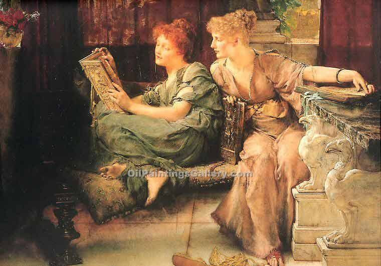 Comparisons by Sir LawrenceAlma Tadema | Modern Art Gallery Online - Oil Paintings Gallery