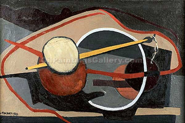 Composition 05 by LajosTihanyi | Paintings On Canvas For Sale - Oil Paintings Gallery