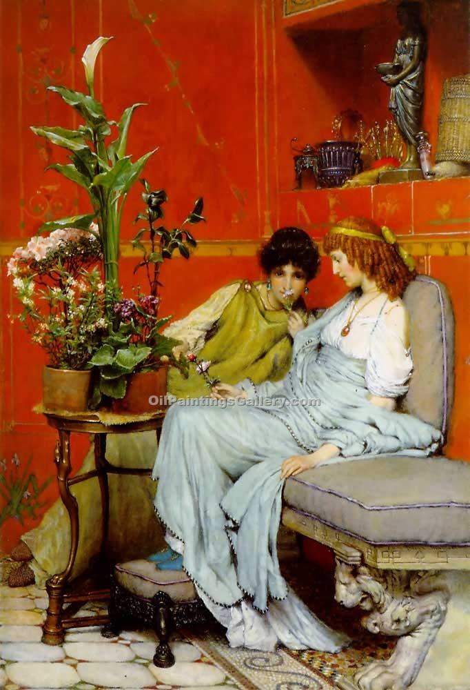 """Confidences"" by  Sir Lawrence Alma Tadema"