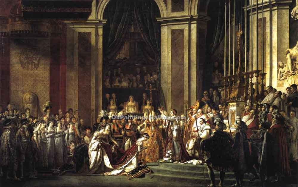 """Consecration of the Emperor Napoleon"" by  Jacques Louis David"
