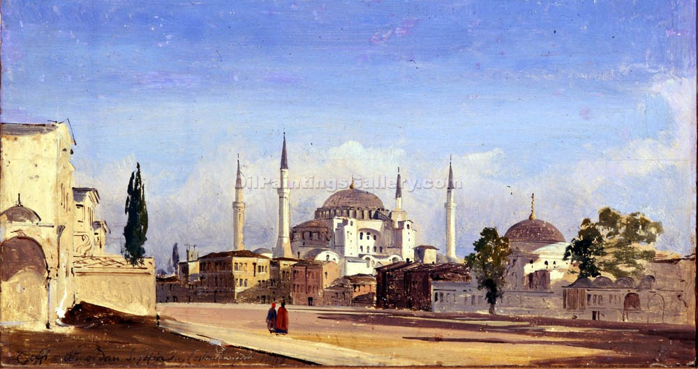 """Constantinople"" by  Ippolito Caffi"