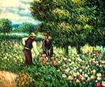 Conversation with the Gardener by  Pierre Auguste Renoir (Painting ID: CL-4522-KA)
