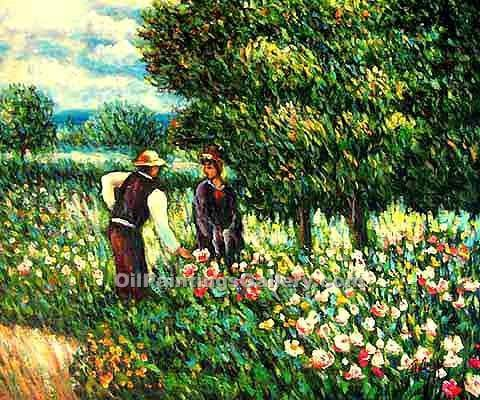 """Conversation with the Gardener"" by  Pierre Auguste Renoir"