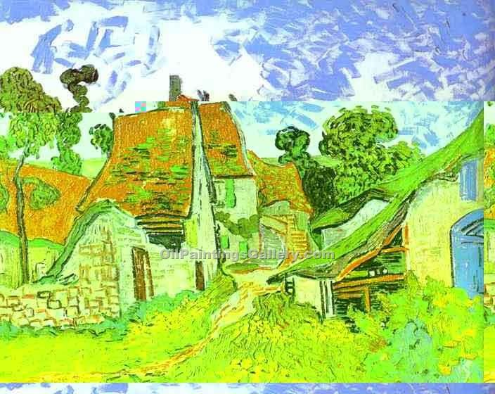 """Copy of Village Street in Auvers"" by  Vincent Van Gogh"
