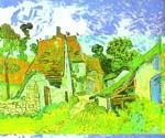 Copy of Village Street in Auvers by  Vincent Van Gogh (Painting ID: VG-0260-KA)