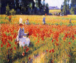 Coquelicots by  Robert Vonnoh (Painting ID: LA-3444-KA)