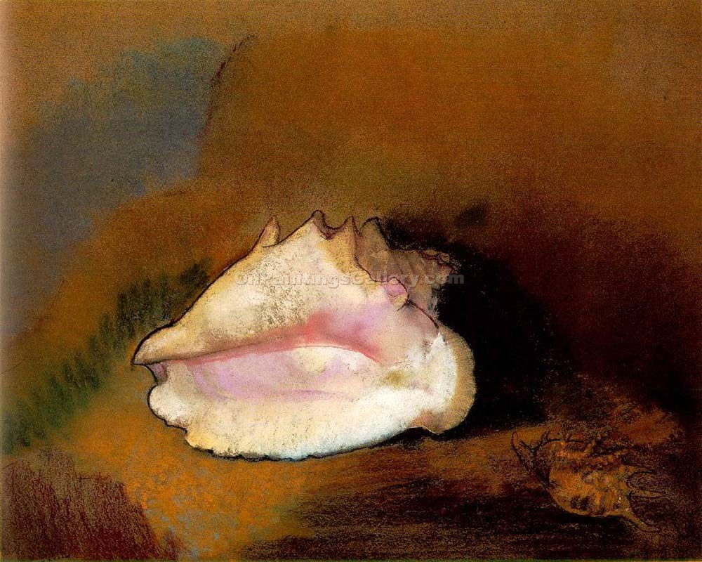 """Coquille"" by  Odilon Redon"