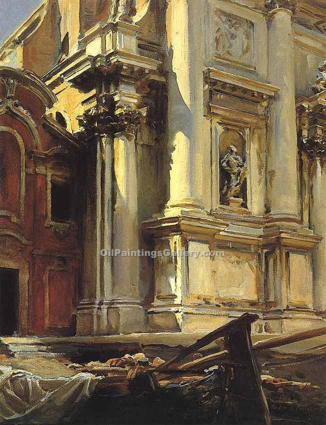 """Corner of the Church of St. Stae Venice 17"" by  John Singer Sargent"