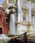Corner of the Church of St. Stae Venice 18 by  John Singer Sargent (Painting ID: SA-0118-KA)