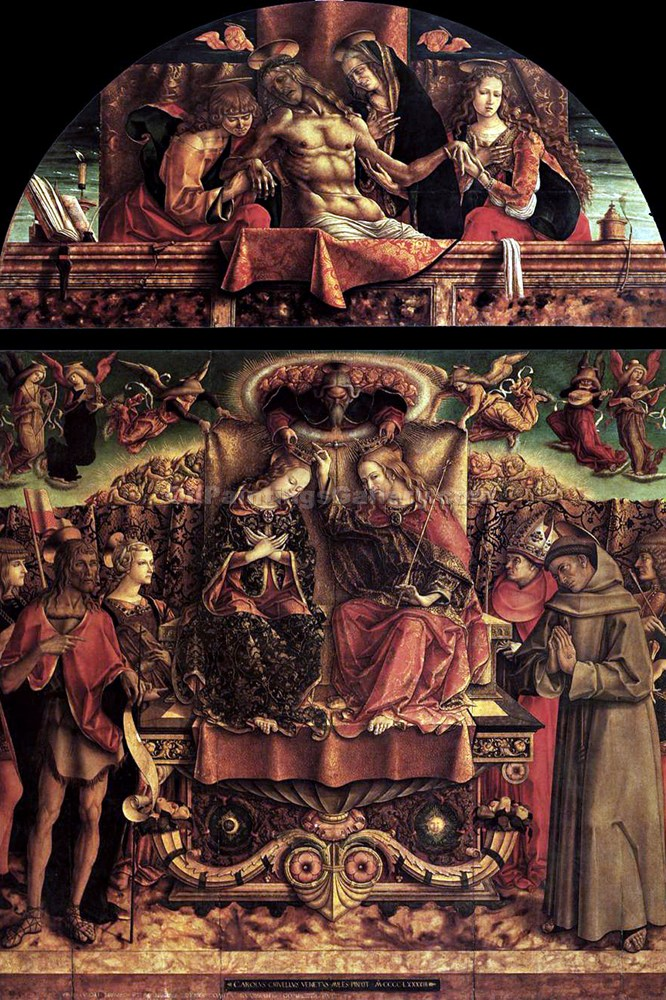 """Coronation of the Virgin"" by  Carlo Crivelli"