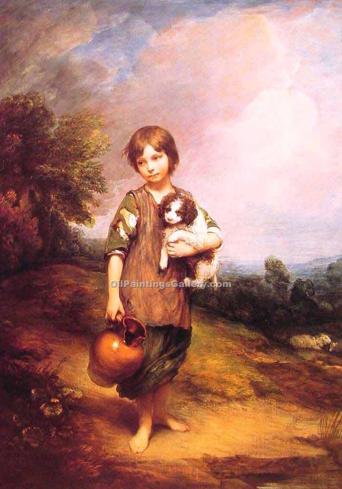 """Cottage Girl with Dog and Pitcher"" by  Thomas Gainsborough"