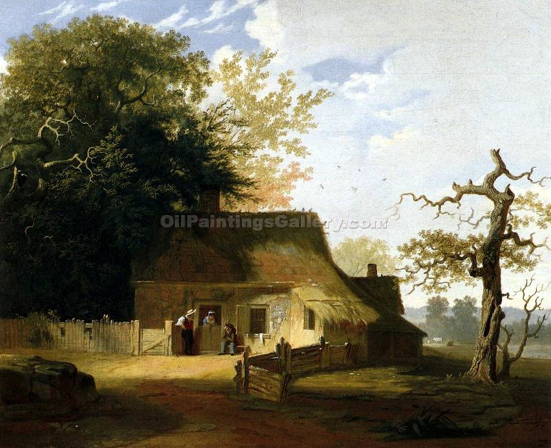"""Cottage Scenery"" by  George Caleb Bingham"