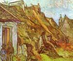 Cottages at Chaponoval. Auvers sur Oise by  Vincent Van Gogh (Painting ID: VG-0258-KA)