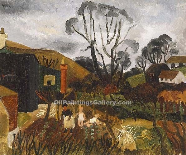"""Cottages in Cornwall"" by  Christopher Wood"