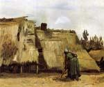 Cottages with Woman Digging by  Vincent Van Gogh (Painting ID: VG-0259-KA)