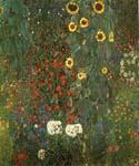 Country Garden with Sunflowers by  Gustav Klimt (Painting ID: KL-1010-KA)