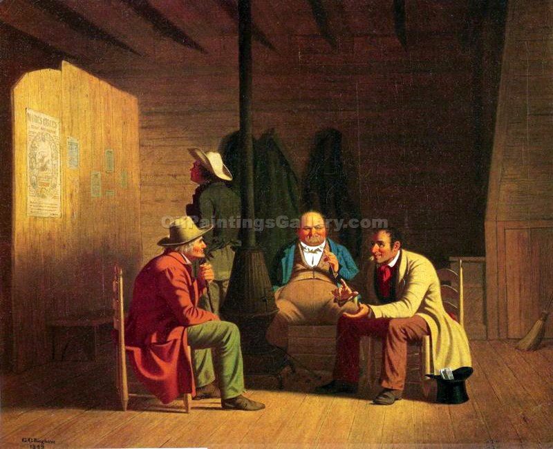 """Country Politician"" by  George Caleb Bingham"