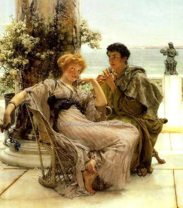 """Courtship The Proposal"" by  Sir Lawrence Alma Tadema"