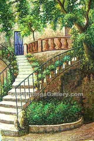 Buy Patio, Garden & Farming Oil Painting Online | Realism & Naturalism styles - Oil Paintings Gallery