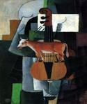 Cow and Fiddle by  Kasimir Malevich (Painting ID: AB-0606-KA)