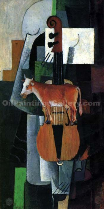 """Cow and Fiddle"" by  Kasimir Malevich"