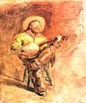 Cowboy Singing by  Thomas Eakins (Painting ID: CL-3561-KA)
