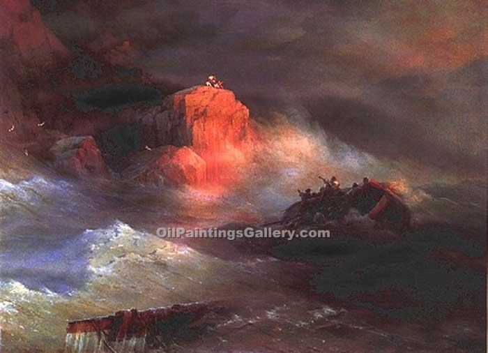 Crash by Ivan Aivazovsky | Landscape Paintings - Oil Paintings Gallery