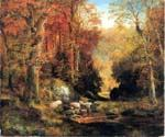 Cresheim Glen Wissahickon Autumn by  Thomas Moran (Painting ID: LA-5985-KA)