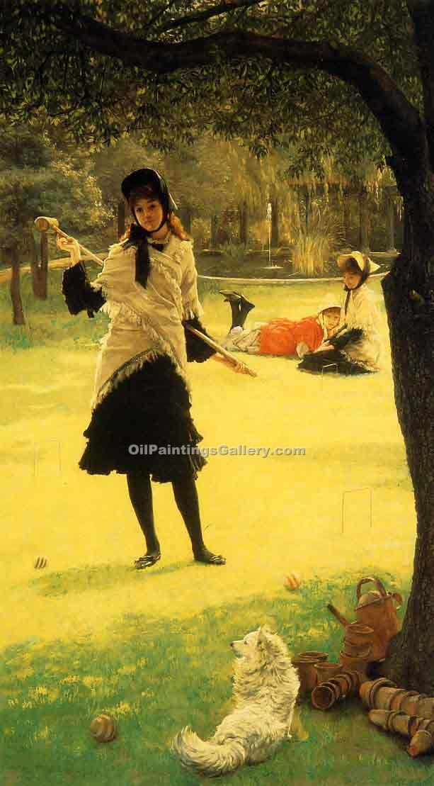 """Croquet"" by  James Tissot"