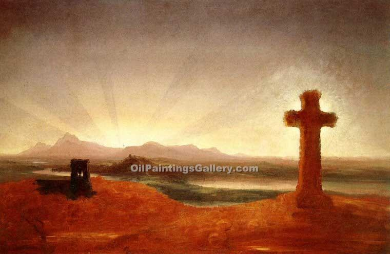 """Cross at Sunset"" by  Thomas Cole"