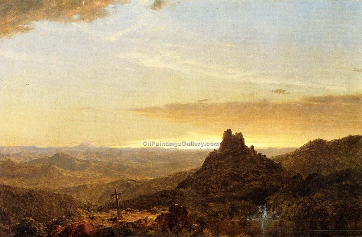Cross in the Wilderness by Frederic Edwin Church | Acrylic Paintings - Oil Paintings Gallery