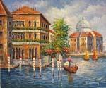 Crossing the Grand Canal 17  (Painting ID: CI-1517-KA)