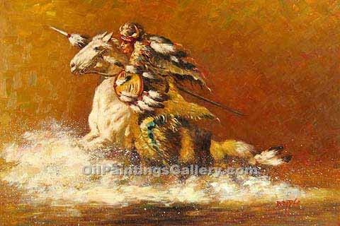 Buy Abstract Figure Oil Painting Online - Crossing the River for Family and  living room